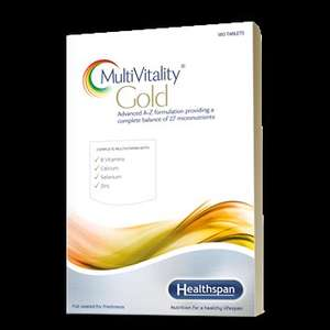 MultiVitality® Gold 90 day supply, buy one get one free £5.45 delivered @ HealthSpan