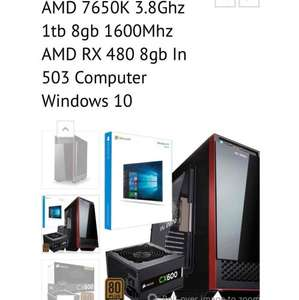 gaming PC from freshtechsolutions £599.00