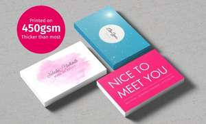 Premium business cards from £6 for 100 + £4.99 P&P + £11 Quidco cashback for new customers