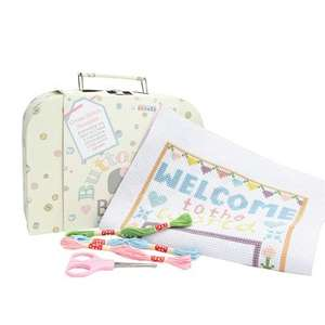 Baby sampler cross stitch kit - jojo mama Bebe for £5