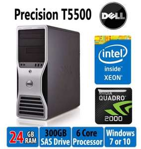 £299 INC delivered Refurbished Dell Precision Hex Core 24GB RAM NVIDIA Quadro 2000  @ Tier1online.com
