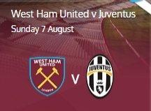 West Ham vs Juventus at the Olympic Stadium (The official stadium opener)