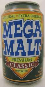 Mega Malt 330ml Cans 25p @ Home Bargains