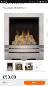 Inset gas fire £50 @ B&Q