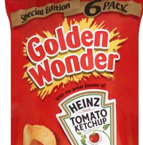 Golden Wonder Heinz Ketchup Crisps 6 Pk 69p @ B&M