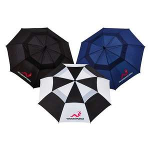 Woodworm Golf Premium Double Canopy Golf Umbrella 3 Pack £12.99 Delivered. Dispatched and sold by The Sports HQ / Amazon