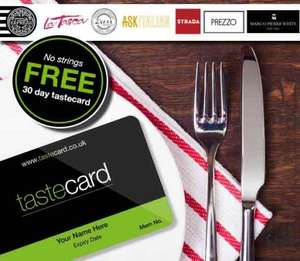 30 days free @ taste card no payment details needed