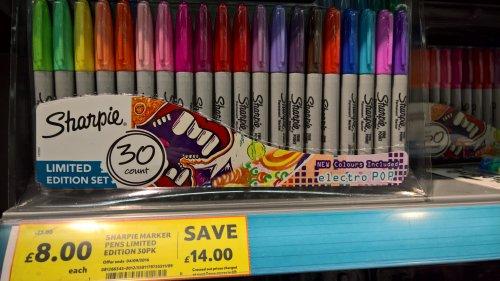 Sharpie 30 pk pens £8 - Tesco instore