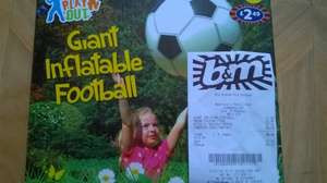 Giant Inflatable Football - £1.00 In store B&M