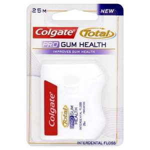 Colgate Total Pro Gum Health Floss 25M £1 @ Tesco