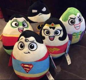 DC Super heroes £1 each at Poundland (plush eggs just under 15cm tall)