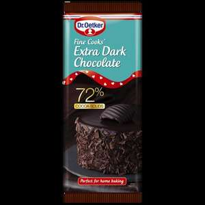 Dr Oetker Extra Dark Chocolate 72% Cocoa Solids, 150g,  £1 @ Morrisons and Co-oP