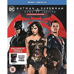 Batman V Superman Ultimate Edition + Man Of Steel Blu-Ray £15 / DVD £10 + Possible 100 Extra CC Points @ Tesco Direct & Instore