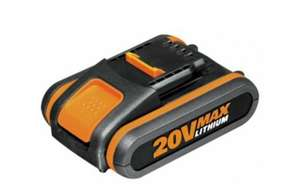 Worx 20V Max 2AH Battery Pack @ Argos £24.99 (Battery Only)