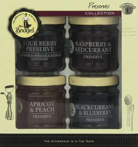 Amazon S&S Mrs Bridges Preserves Collection *Pack of 2* (2 x gift sets of 4 Jams each 113g jar) £4.05 / £4.52 free delivery