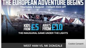 First Ever Football Game at London Olympic Stadium £5 @ Ticketmaster