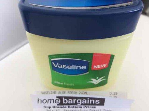 Large Vaseline 240ml @ Home Bargains for 29p! New Aloe Fresh