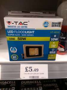 V-TAC 10W LED Floodlight £5.49 @ Home Bargains