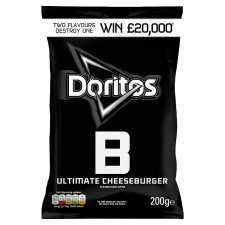 Doritos Ultimate Cheese Burger and Sizzling Salsa 200G £1.00 @ tesco