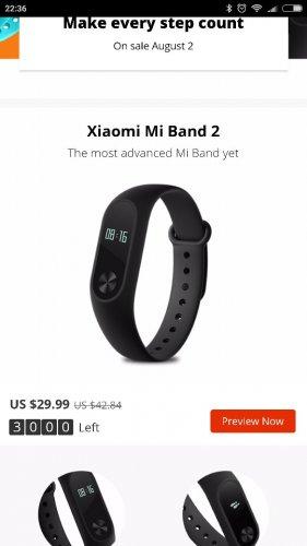 Original Xiaomi Mi band 2 OLED Display Heart Rate Monitor Bluetooth Smart Wristband Bracelet @ £22.98 @ Aliexpress Sale Starts on 2nd August