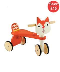 Wooden Squirrel Trike was £35 now £20 with FREE C+C @ ELC & Mothercare (matching Wooden Pull a Long Toy now £5)
