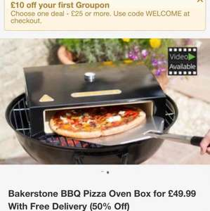 Bakerstone pizza oven box (12 inch pizza) £49.99 delivered /  £39.99 (new customers) @ Groupon