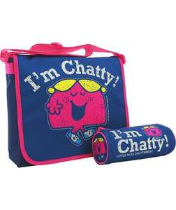 Little Miss Chatty Messenger Bag & Pencil Case - Navy £5.99 was £19.99 @ Argos Free C&C