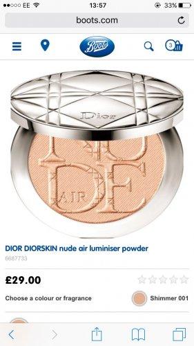 Dior Skin Nude Air Luminiser Powder £29.00 BOOTS FREE C+C