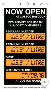 Costco (Haydock) fuel station now open! Petrol 102.9p litre/Diesel 103.9p litre until 7th August