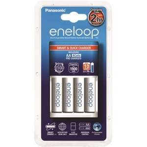 [Xbox Battery Charging] Panasonic Eneloop Smart Quick Charger with 4 x Eneloop AA Rechargeable Batteries BQ CC16 £20.98 @ batterystation