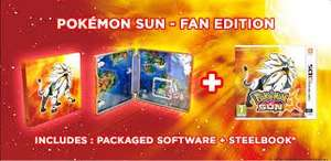 Pokemon Sun and Moon Steelbook fan edition and (Quick Ball) £39.85 @ shopto