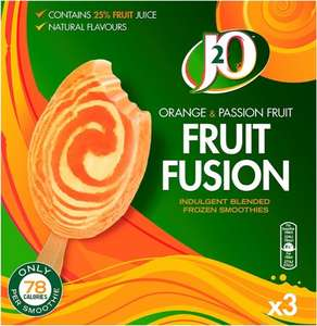 J20 Orange And Passion Fruit Smoothie (3 Pack = 270ml) was £2.00 now £1.00 @ Tesco