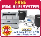 Brother Laser Printer + FREE mini hi fi from Viking -Direct (£82.24)