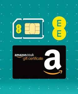 EE  4G SIM only 16g double speed 4G data U/L mins U/L txts £19.99, 12m contract (239.88 + £90 Amazon voucher) @ EE (£12.49/mth after voucher - £149.88 for the whole year)