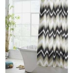 Heart of House Chevron Shower Curtain - Neutral was £16.99 now £3.99 @ Argos