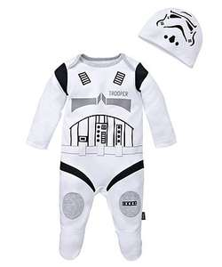 Babies 100% Cotton Star Wars Storm Trooper All in One with Hat was £12 now £6 C+C @ Mothercare (also R2D2)