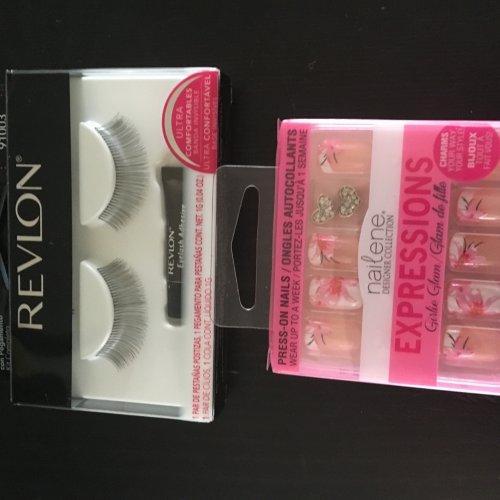 Revlon false lashes and Nailene false nails £1 Poundworld