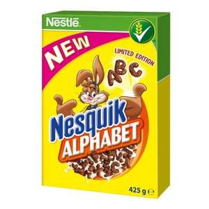 Nestle Nesquik Alphabet Cereal (425g) Limited Edition) ONLY £1.00 @ B&M