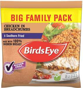 Birds Eye Southern Fried Chicken in Breadcrumbs (Frozen) (6 = 540g) was £4.75 now £2.37 @ Ocado