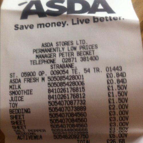 Baby bedding reduced e.g duvet cover and pillowcase £2 at Asda