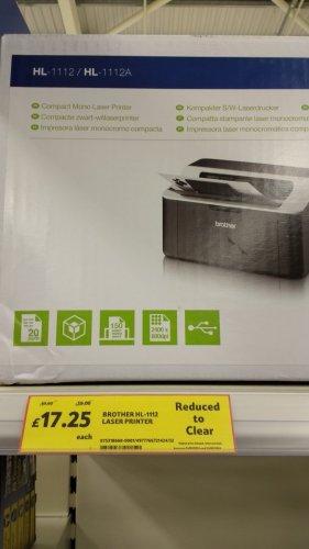 Brother HL-1112 Laser Printer £17.25 Tesco instore (Newtownbreda)