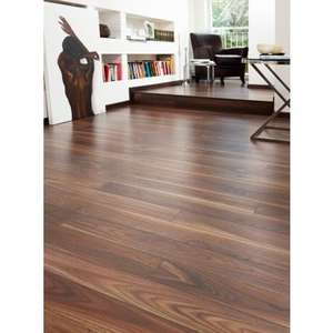 Walnut effect laminated flooring £14.80 a pack 2.47sqm B&M retail