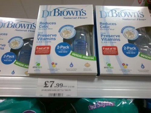 dr brown bottles 2x 240ml £7.99  @ homebargains
