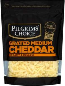Pilgrims Choice Medium Grated Cheddar (150g) / Pilgrims Choice Mature Sliced Cheddar (140g) was £2.00 now (BOGOF) Ocado