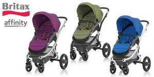Britax Affinity pushchair base + carrycot + colour pack £300 @ Boots online (+1200 points)