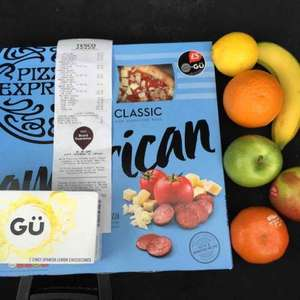 TESCO meal deal Brand Guarantee deal pizza express large pizza and a box of 2 Gu luxury desserts for £1!!