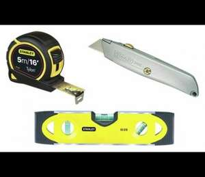 Stanley Tape, Knife and Spirit level Argos - £7.99