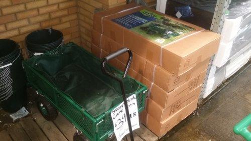 Heavy duty garden trolley from Homebase for £39.98