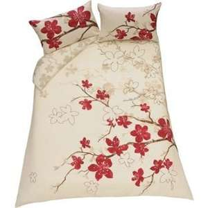 Argos Blossom Red and Cream Bedding Set - Kingsize for £7.99