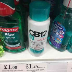 CB12 Mouth Wash 250ml. £1.49 at Home Bargains.